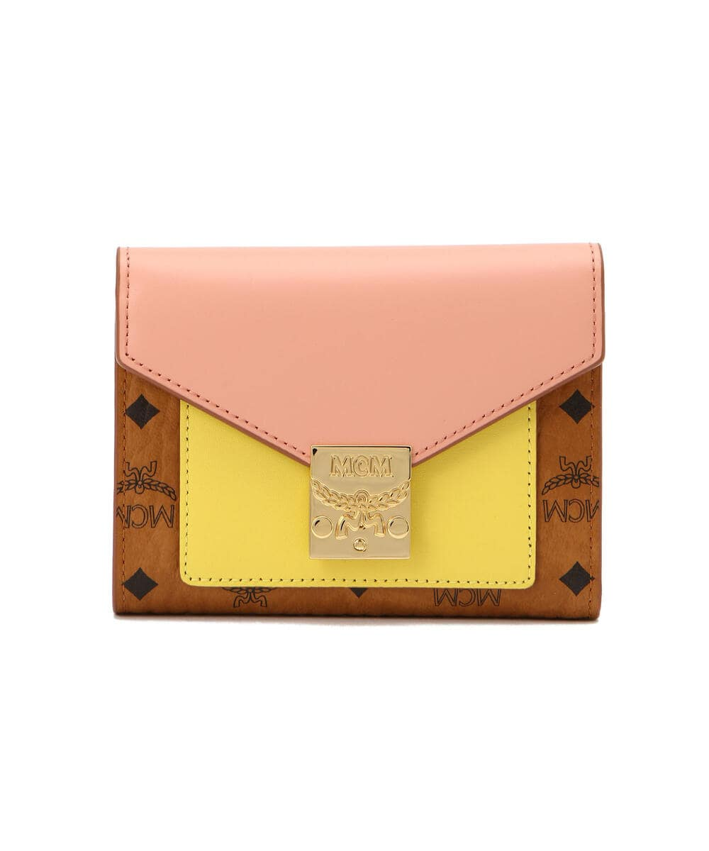 MCM/エムシーエム/PATRICIA LEATHER FLAP WALLET SMALL/パトリシアレザー 三つ折りウォレット スモール