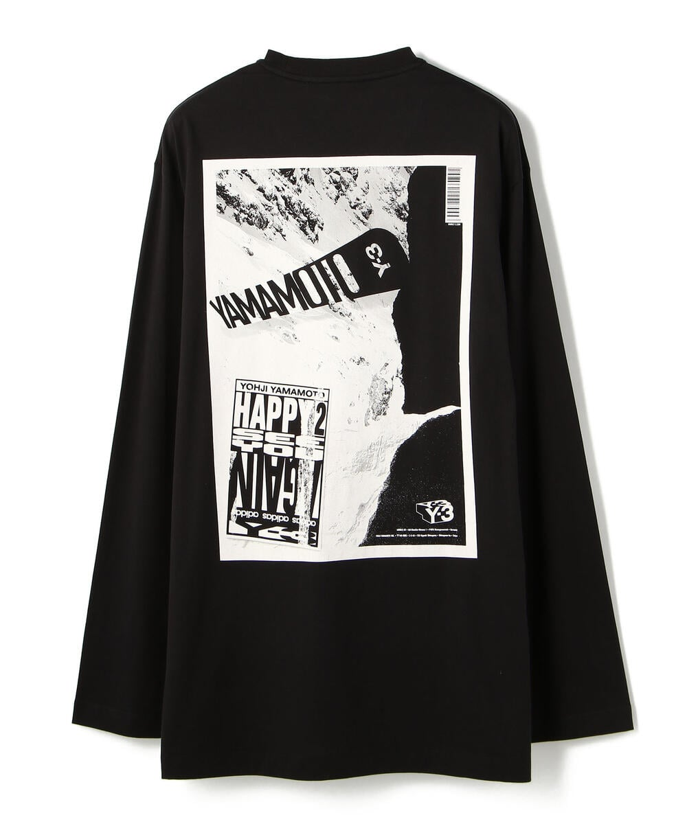 Y-3/ワイスリー/U CH2 ZINE PAGE-2 L/S TEE/グラフィックプリントロングスリーブTシャツ