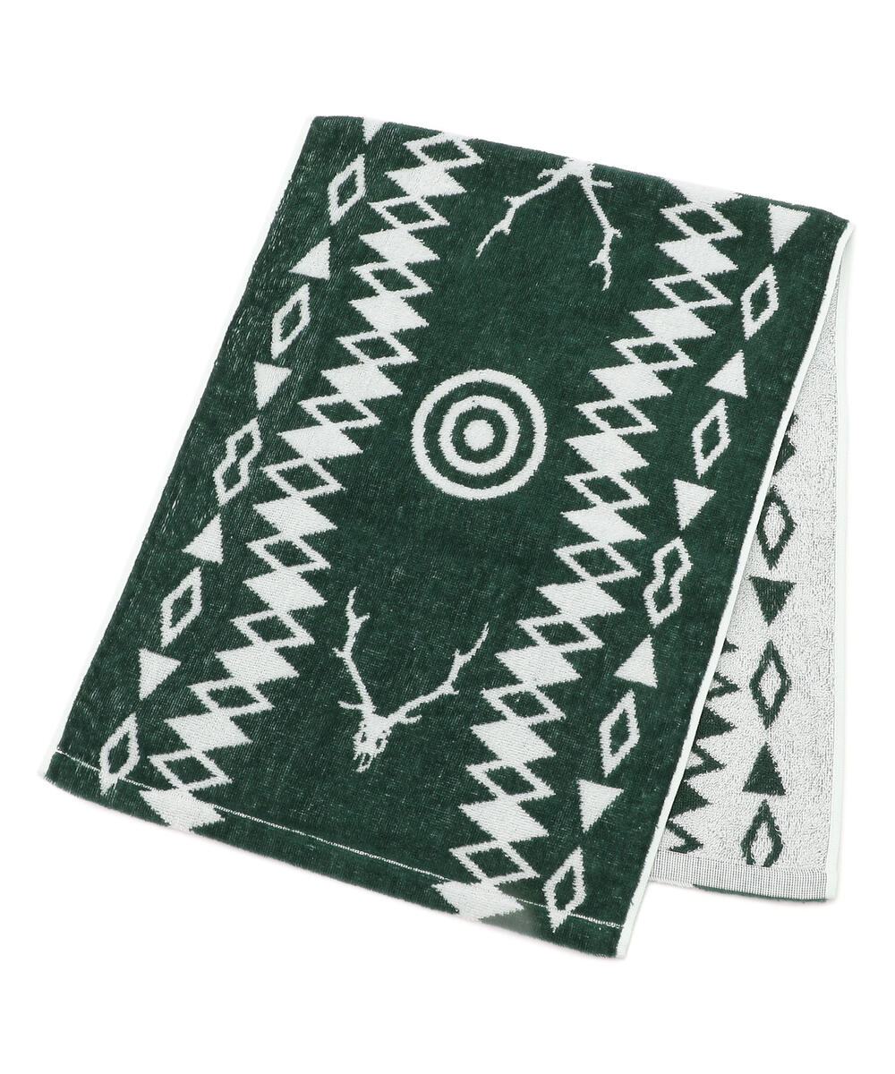South2 West8/サウスツーウェストエイト/Face Towel Cotton Jacquard Target & Skull/フィエスタオル