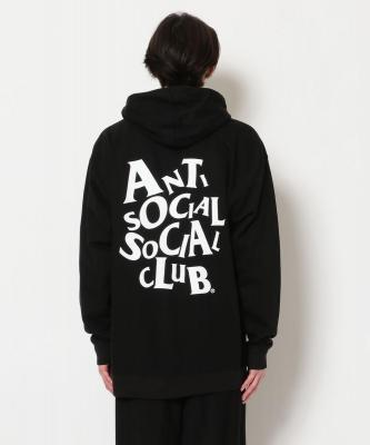 AntiSocialSocialClub/アンチソーシャルソーシャルクラブ/COMPLICATED BLACK HOODIE/グラフィックプリントパーカー