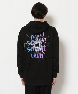 AntiSocialSocialClub/アンチソーシャルソーシャルクラブ/THEORIES BLACK HOODIE/グラフィックプリントパーカー