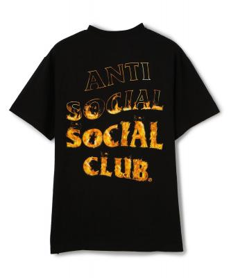AntiSocialSocialClub/アンチソーシャルソーシャルクラブ/A FIRE INSIDE BLACK TEE - FLAME