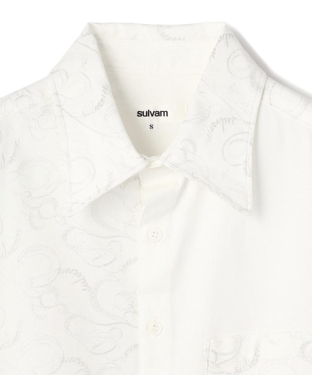 sulvam/サルバム/OX RIGHT EMBROIDERY SHIRTS