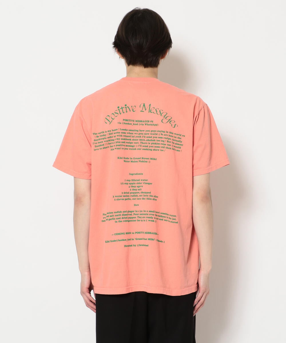 A Positive Message/ポジティブメッセージ/POZ MEZ WATERMELON SS TEE/Tシャツ