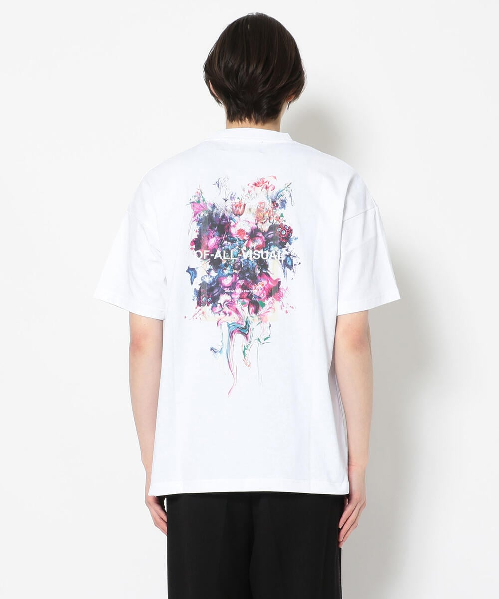 A4A/エーフォーエー/PAINT FLOWER TEE/ペイントフラワーTシャツ