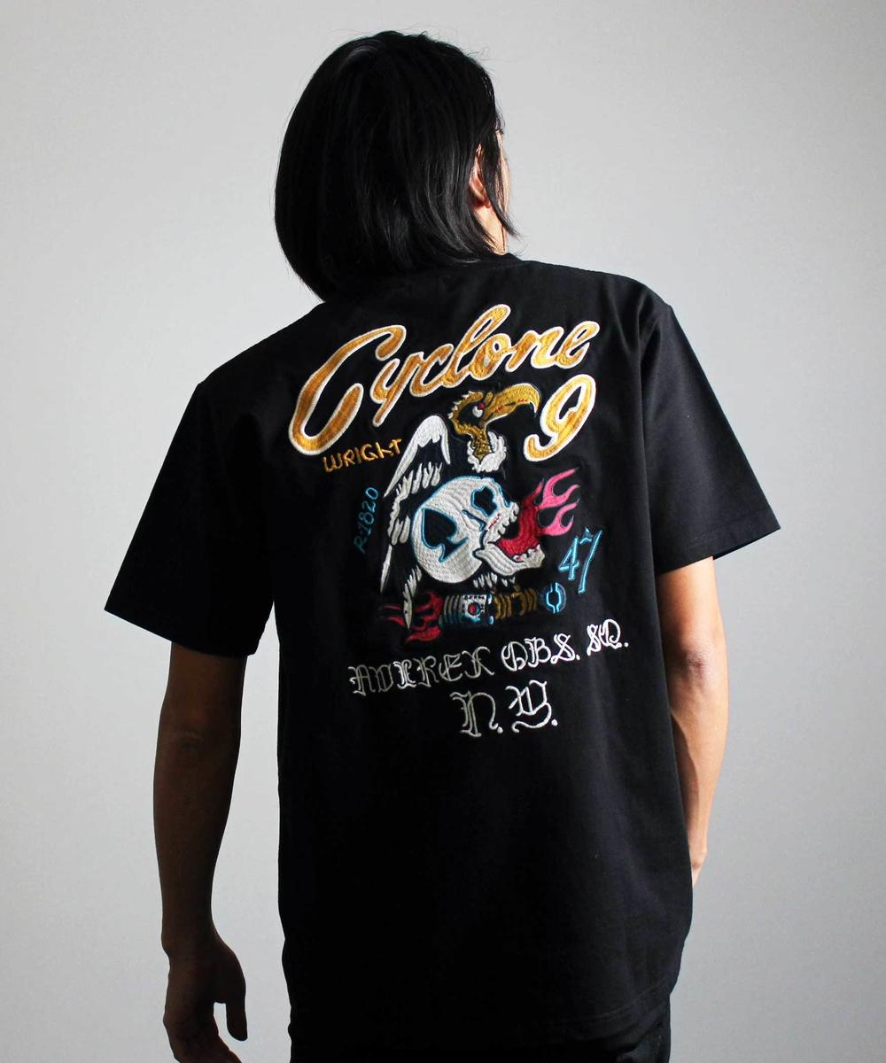 【WEB&DEPOT限定】エンブロイダリー Tシャツ サイクロンナイン/EMBROIDERY T-SHIRT CYCLONE9