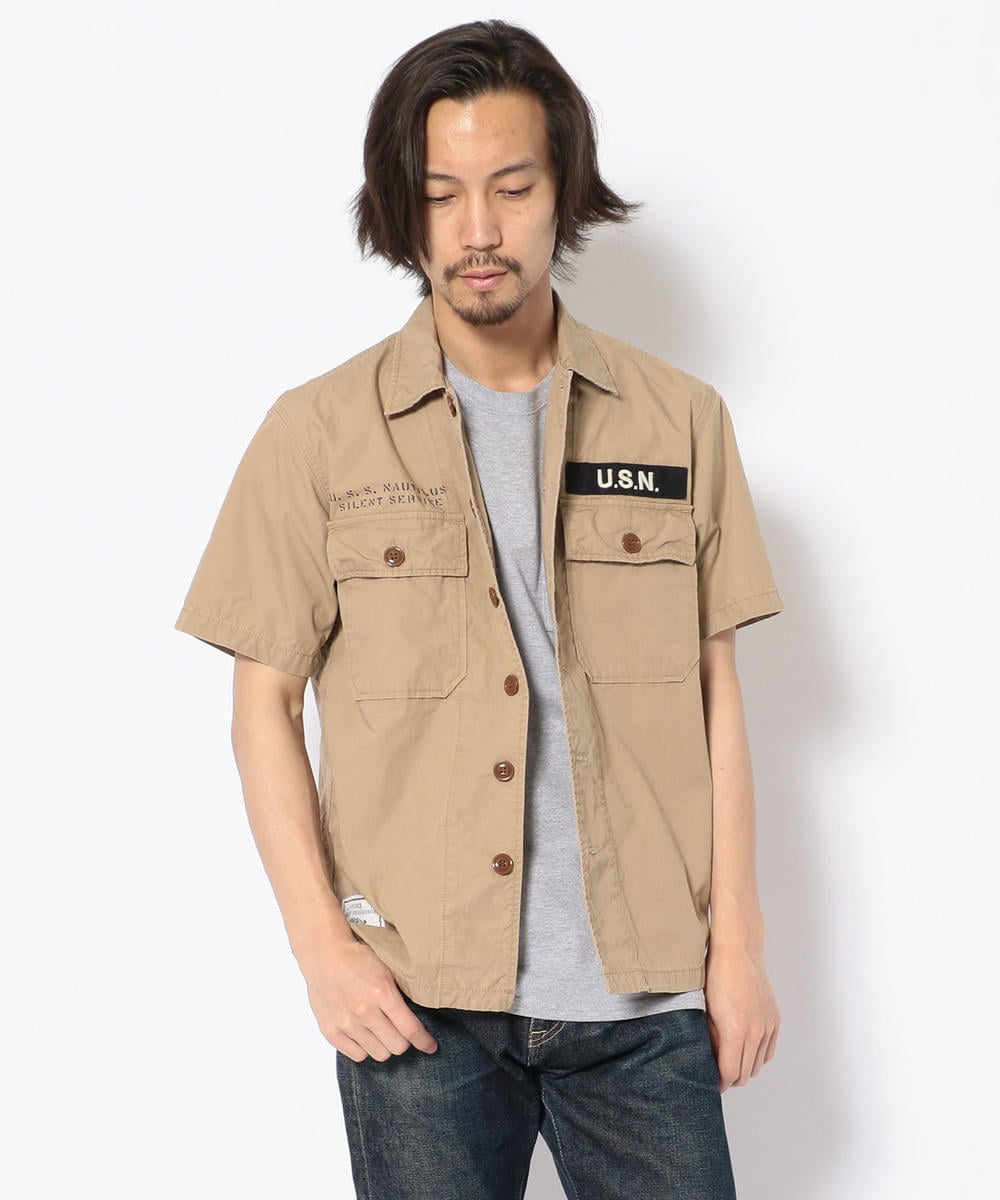 TYPE BLUE/ S/S SSN-571 WORK SHIRT/ワークシャツ