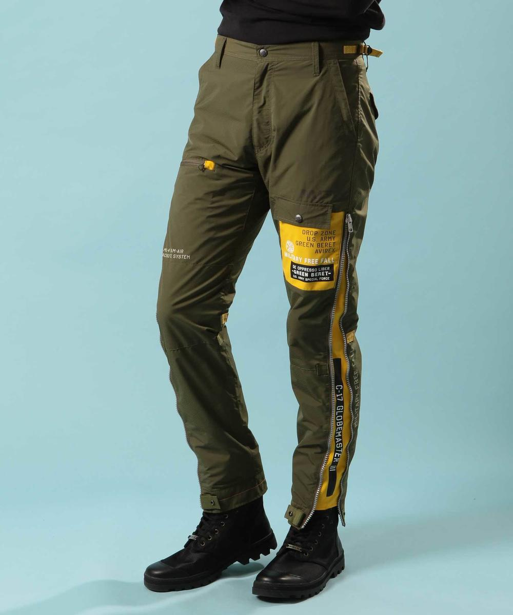 リモデル サイドジップ パンツ/REMODEL SIDE ZIP PANTS【Avirex Military Camp】