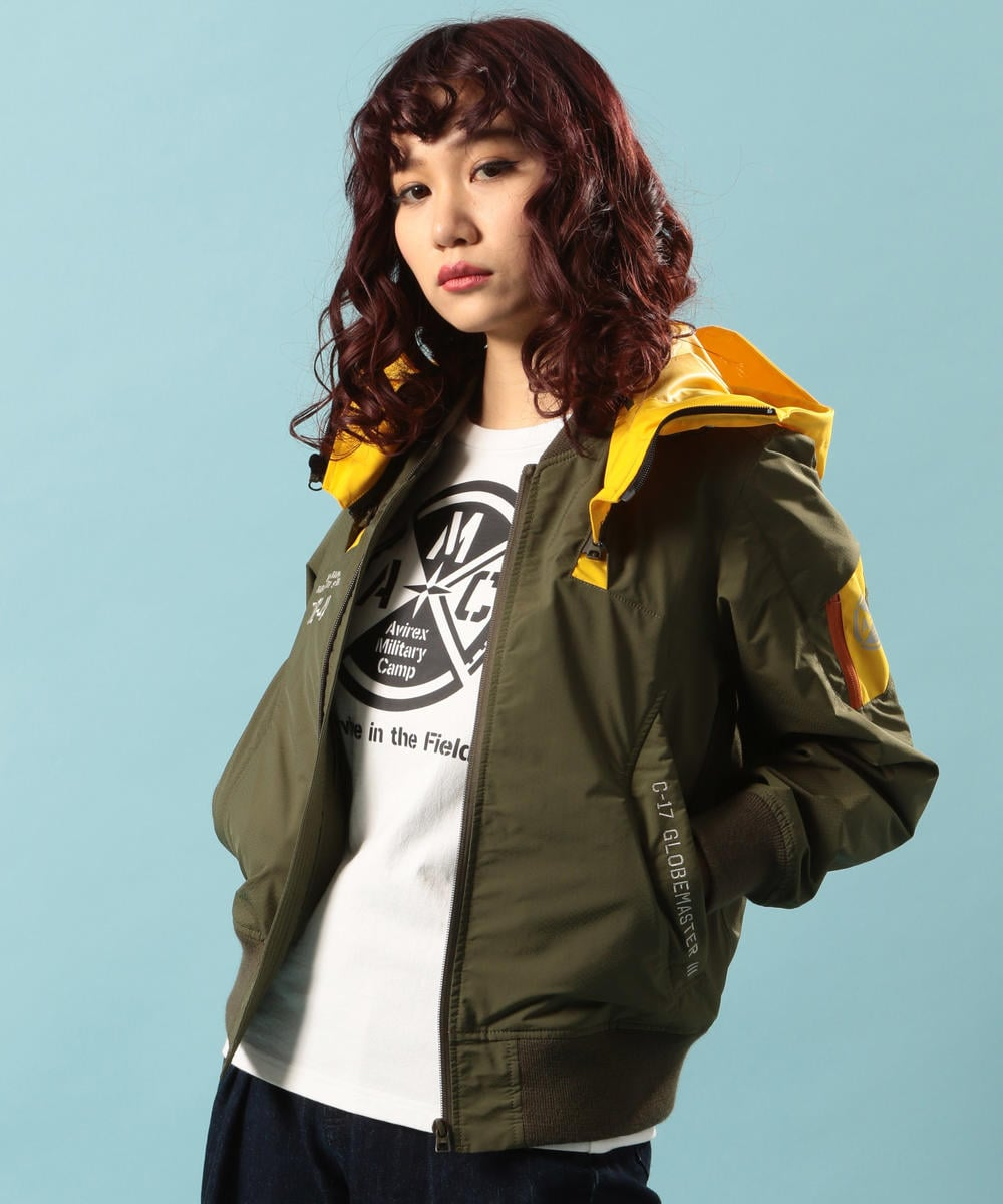 リモデル ボンバージャケット/ REMODEL BOMBER JACKET【Avirex Military Camp】