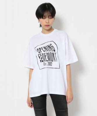 OPENING CEREMONY/オープニングセレモニー/WARPED LOGO REGULAR Tee/Tシャツ