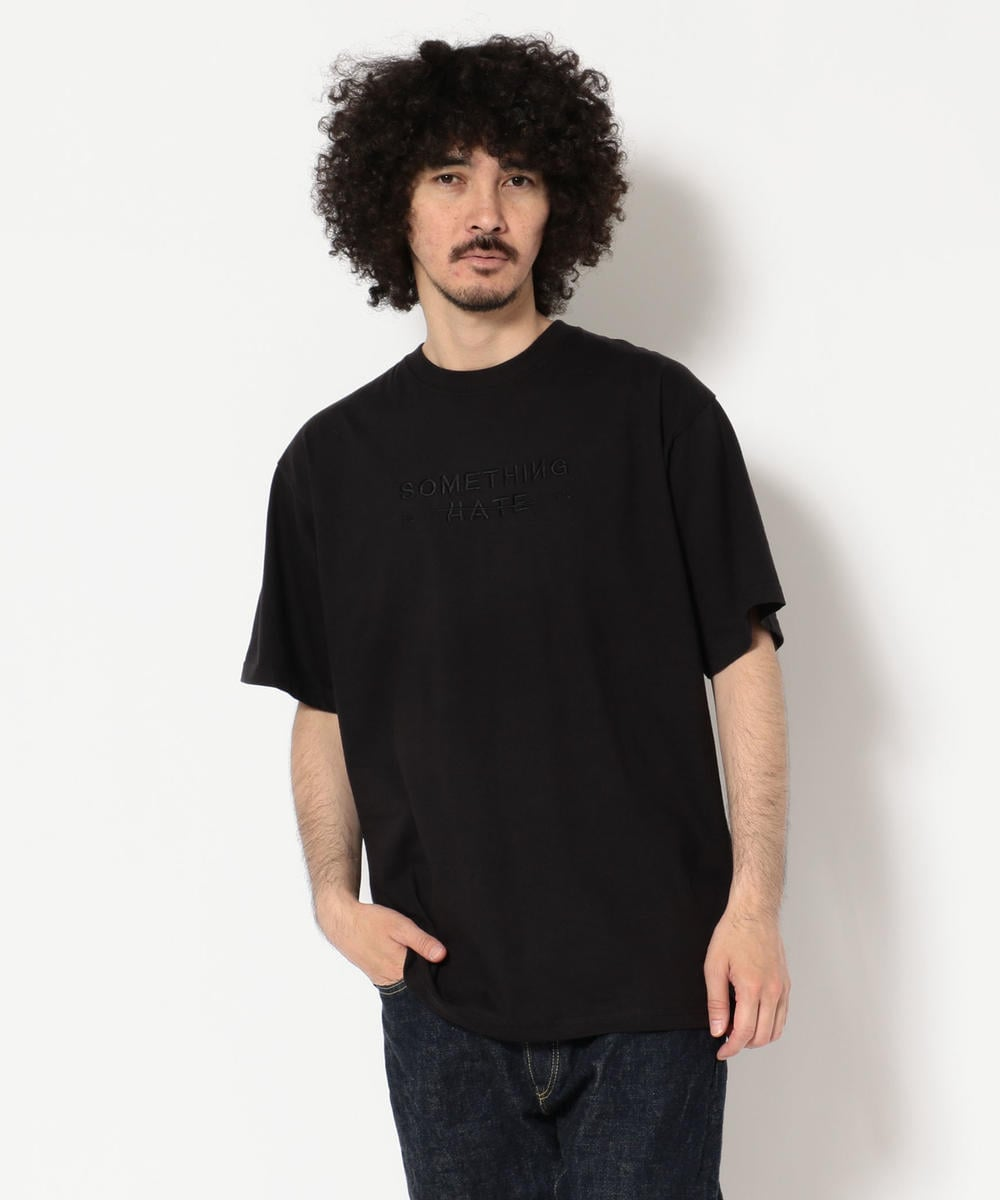 Somthing To Hate on/サムシングトゥヘイトオン/EMBROIDERY SS TEE