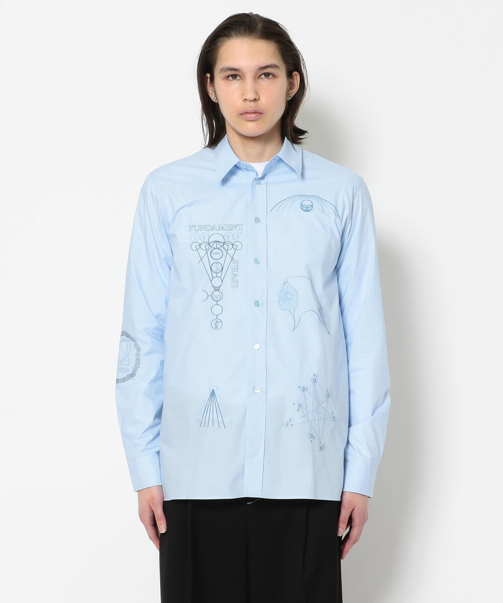 RAF SIMONS/ラフシモンズ/ARCHIVE REDUX Shirt with embroidered front