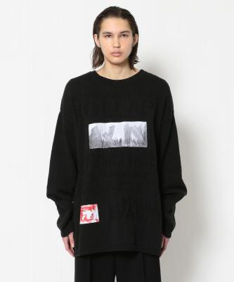 RAF SIMONS/ラフシモンズ/ARCHIVE REDUX Oversized knit Kollaps relief & 2 patches
