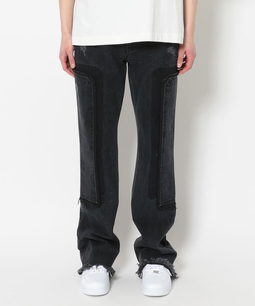 WE11DONE/ウェルダン/WASHED PATCH WORK JEANS/デニム