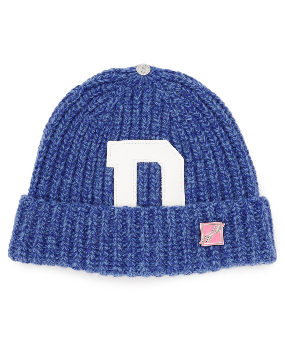 WE11DONE/ウェルダン/PATCH EMBROIDERED BEANIE/刺?ニットキャップ